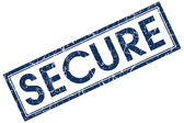Secure stamp — Stock Photo