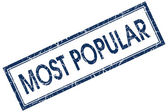 Most popular stamp — Stock Photo