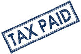 Tax paid stamp — Stock Photo