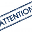 Attention stamp — Stockfoto #24391083