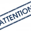 Attention stamp — Stock Photo #24391083