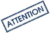 Attention stamp — Stock Photo