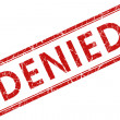 Stock Photo: Denied stamp