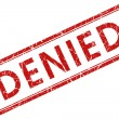 Denied stamp — Stock Photo