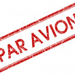 Stock Photo: Par avion stamp