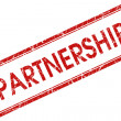Partnership stamp — Stock Photo