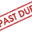 Stock Photo: Past due stamp