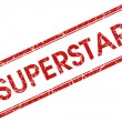 Superstar stamp — Stock Photo