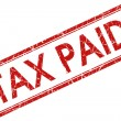 Tax paid stamp - Stockfoto