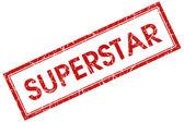 Superstar stamp — Stock Photo