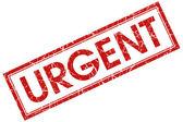 Urgent stamp — Stock Photo