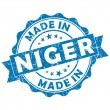 Made in niger stamp — Stock Photo