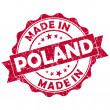 Stock Photo: Made in poland stamp