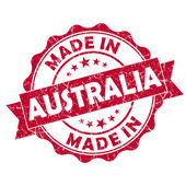 Made in australia stamp — Stock Photo