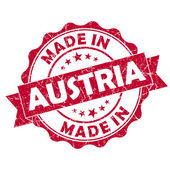Made in austria stamp — Stock Photo