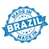 Made in brazil stamp — Stock Photo
