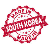 Made in south korea stamp — 图库照片