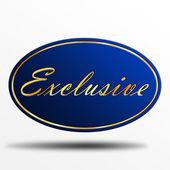 Exclusive label — Stock Photo
