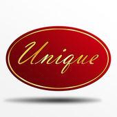 Unique label — Stock Photo