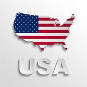 USA poster — Stock Photo