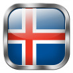 Iceland flag button — Stock Photo