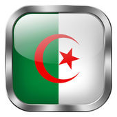 Algeria flag button — Stockfoto