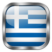 Greece flag button — Stock Photo