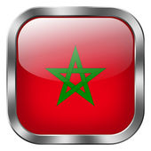 Morocco flag button — Stock Photo