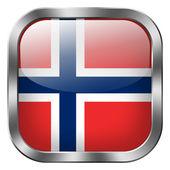 Norway flag button — Stock Photo