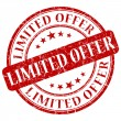 Limited offer stamp — Foto de Stock