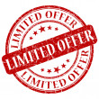 Foto de Stock  : Limited offer stamp