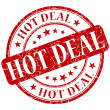Hot deal stamp — Stock Photo #25849501