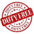 Stock Photo: Duty free stamp