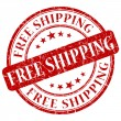 Free shipping stamp — Stock Photo
