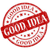 Selo de boa ideia — Fotografia Stock