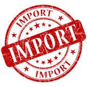 Import stamp — Stock Photo