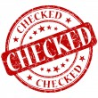 Checked stamp — Stock Photo