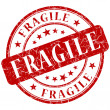Stock Photo: Fragile stamp
