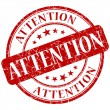 Attention stamp — Stock Photo #25850067