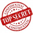 Top secret stamp — Stock Photo #25850121