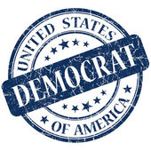 Democrat stamp — Stock Photo