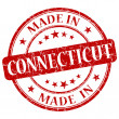 Stock Photo: Made in connecticut stamp