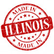 Stock Photo: Made in illinois stamp