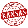 Stock Photo: Made in kansas stamp