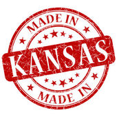 Made in kansas stamp — Stock Photo