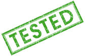 Tested stamp — Stock Photo