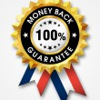 Foto de Stock  : Money back guarantee