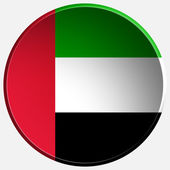 United arab emirates 3d round button — Stock Photo