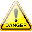 Stock Photo: Danger road sign