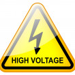 High voltage sign — 图库照片